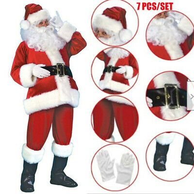 £23.99 • Buy Adult Christmas Santa Claus Cosplay Suit Costume Fancy Dress Party Outfit MN