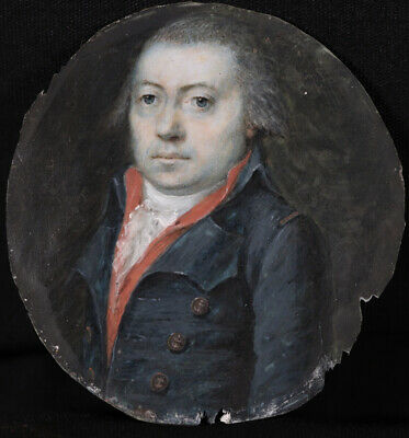 £112 • Buy 18th CENTURY FINE FRENCH MINIATURE PAINTING - PORTRAIT OF A GENTLEMAN