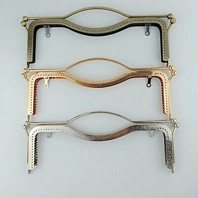 £5.71 • Buy DIY Metal Purse Clasp Frame Craft Accessories Frame Rectangle For Purse Making