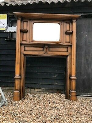 £30 • Buy Vintage , 20s Fire Surround , Solid Mahogany ,bevelled Mirror