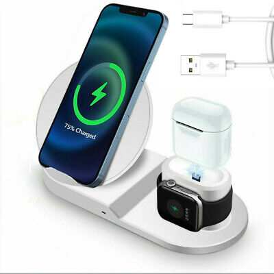 AU19.89 • Buy 3in1 Qi Wireless Charger Charging Dock Stand For Apple IPhone 13 IWatch Air Pods