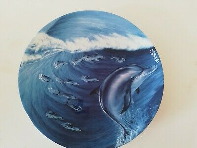 £5 • Buy Banbury Mint Coalport Bone China Decorative Plate From The  Magical Dolphins ...