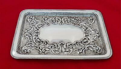 £290.97 • Buy Antique English Sterling Silver Repousse 7.5  X 11  Tray JX-31