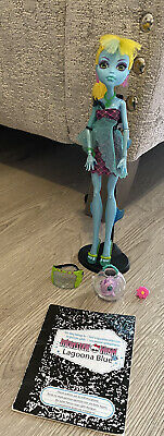 £10 • Buy Monster High Freshwater Lagoona Blue Doll With Neptuna Fish Bowl Stand Book Vgc