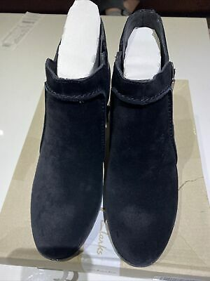 £15 • Buy Clarks Enfield Kayla Black Suede Buckle Ankle Boot Wide Fit, 7 UK , New