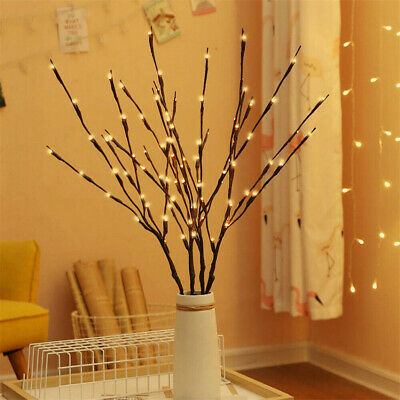 £8.96 • Buy 4Pcs 20LED Tree Branch Led Light Battery Powered Decor Willow Twig Branch Lights