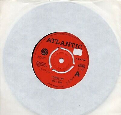 £40 • Buy BEN E KING   SO MUCH LOVE /DON'T DRIVE ME AWAY  UK  RED ATLANTIC 'A' LABEL  60s