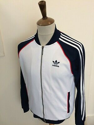 £23 • Buy Retro Adidas Tracksuit Top Size Small White