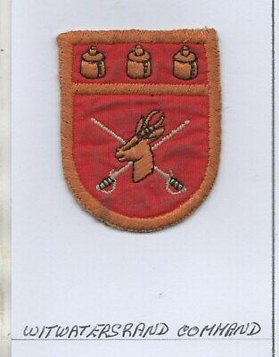 £7.99 • Buy South  African Army Witwatersrand Command Patch
