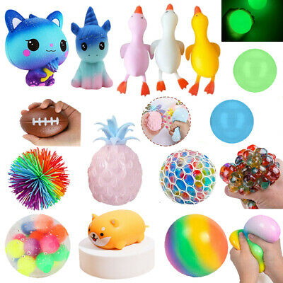 AU8.79 • Buy Stress Exercise Relief Fidget Squishy Hand Toys Squeeze Colorful DNA Stress Ball