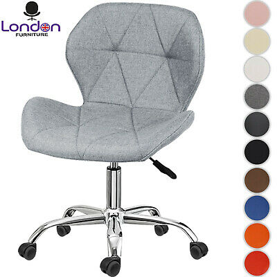 AU71.69 • Buy Cushioned Computer Desk Office Chair Quilted Dressing Swivel Small Adjustable