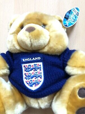 """£16.99 • Buy Vintage England Mascot Golden Brown Football Soft Toy Mascot Teddy Beat Size 13"""""""