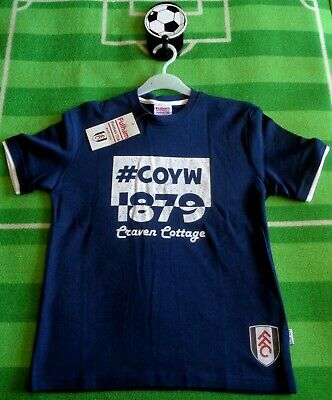 £4.39 • Buy  ⚽️FULHAM FC⚽️Official⚽️#COYW Craven Cottage T-SHIRT Top⚽️11-12 Years⚽️NEW⚽️01