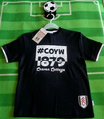 £4.49 • Buy  ⚽️FULHAM FC⚽️Official⚽️#COYW Craven Cottage T-SHIRT Top⚽️8-9 Years⚽️NEW⚽️02
