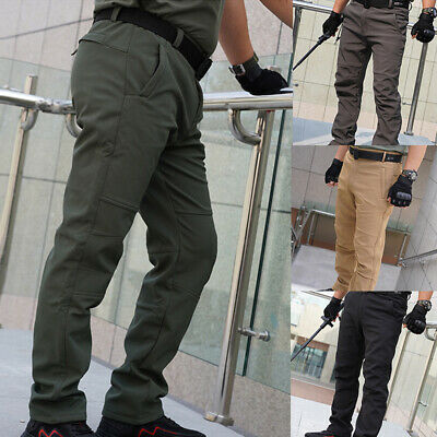 £16.99 • Buy Men Winter Mountain Pants Hiking Tactical Thermal Trousers Zipper Solid Trendy