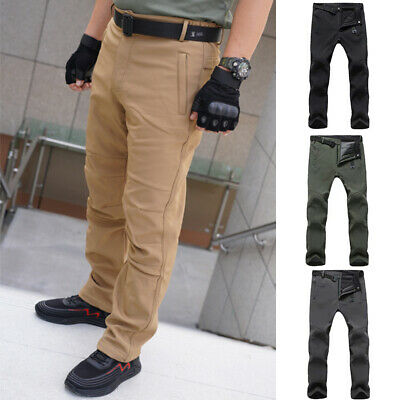 £17.09 • Buy Men's Mountain Pants Hiking Thermal Tactical Trousers Zip Workwear Winter Solid
