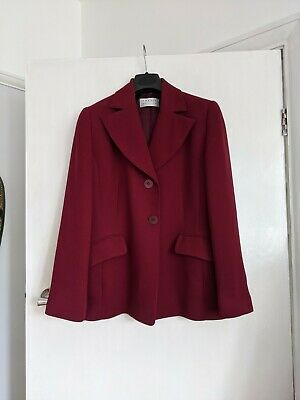 £8.99 • Buy Precis Petite Wine Red Burgundy Smart Fitted Jacket Sz 8