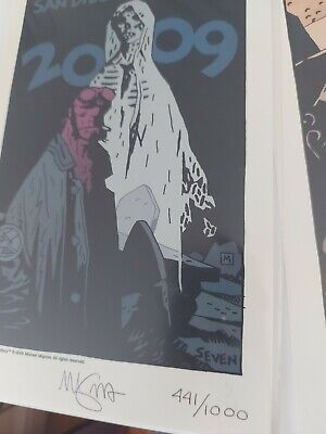 £50 • Buy Hellboy Mini Print No. 7 SDCC - Signed And Numbered By Mignola NITF