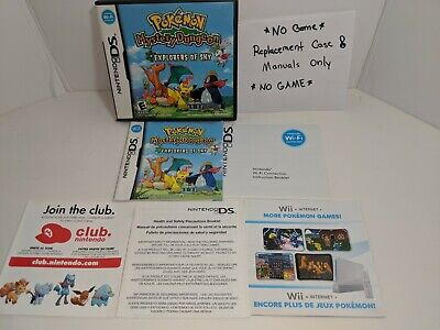 $52.99 • Buy *NO GAME* Pokemon Mystery Dungeon Explorers Of Sky DS Replacement Case & Manuals