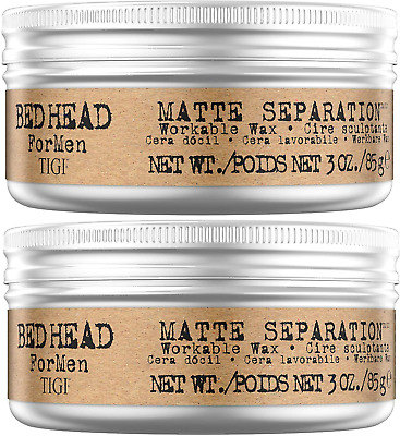 £18.83 • Buy Bed Head For Men By TIGI Matte Separation Mens Firm Hold Hair Wax, 85 G, Pack Of