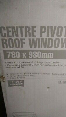 £169.99 • Buy Pine Centre Pivot Roof Window Made By Keylite 78x98 And Tile Flashing Kit