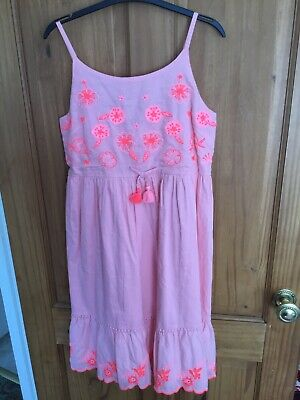 £4.30 • Buy Girls George New Sleeveless Coral Pink Dress Age 12/13 Years