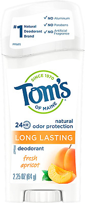£11.89 • Buy Toms Of Maine Natural Long-Lasting Deodorant Stick Apricot - 2.25 Oz 64 G