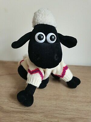£9.60 • Buy Shaun The Sheep Vintage 1989 Soft Toy Plush In Jumper Sweater By Born To Play