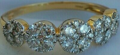 £599.99 • Buy 18Ct Gold 1Ct Diamond Daisy Deco Cluster H Colour! Engagement Hallmarked Ring