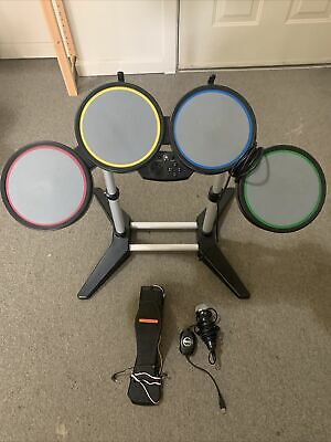 £109.13 • Buy PS3 Playstation 3 Rock Band Wired Drum Set W/ Stand Pedal Microphone
