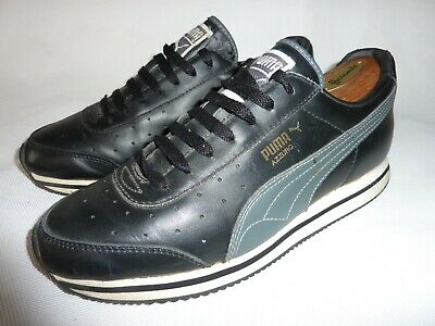 AU15.08 • Buy Men's PUMA AZZURO Trainers Sneakers UK 7 Black Leather Casual Running Shoes 40.5