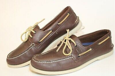 £11.33 • Buy Sperry Top-Sider Mens Size 11 Wide Original 2-Eye Leather Boat Shoes 0195115