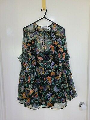 AU35.50 • Buy Alice McCall Blouse Size 6, Black & Gold Floral, Good Condition