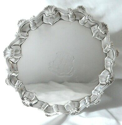 £704.37 • Buy Richard Rugg I, Solid Sterling Silver Salver/Tray Dated 1766, George III, London