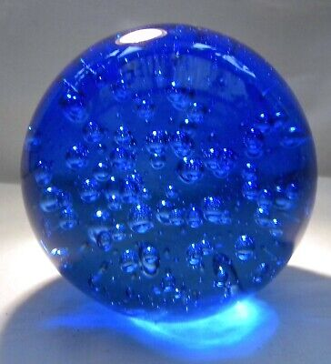 £29.99 • Buy Huge Blue Glass Bubble Paperweight
