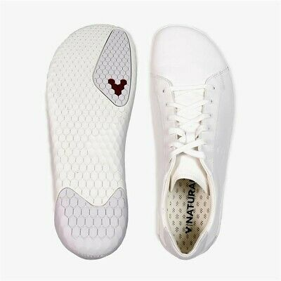 £75 • Buy Vivobarefoot 45M Geo Court White Leather Barefoot Trainers Sneakers