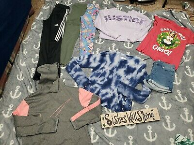 AU22.17 • Buy GIRLS CLOTHES Size 10/12 Mix Lot  Pants Tops Shirts #145 Adidas Nike Justice
