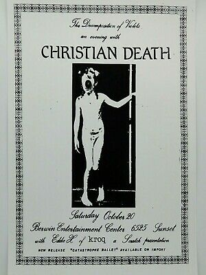 $14.95 • Buy Christian Death The Berwin Entertainment Center In Hollywood Punk Concert Poster