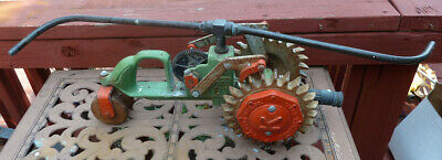 AU234.51 • Buy Vtg Kees 101 Walking Cast Iron Tractor Lawn Sprinkler Beatrice Neb. Brass Arms
