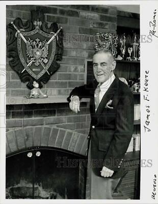 £10.08 • Buy Press Photo James Keane Poses Next To The Fireplace In His Monroe Residence