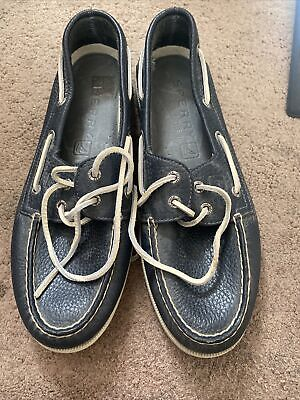 £25 • Buy Sperry Top Sider Mens Navy Slip On Loafers Boat Shoes Size 10