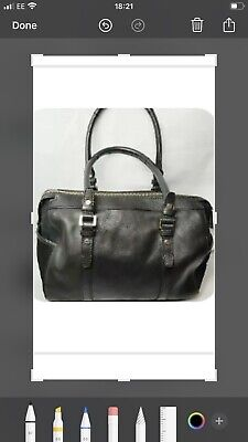 £15 • Buy Large Black Leather Tote Bag M&S Autograph Great Condition