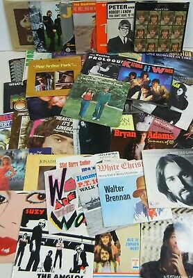 £13.89 • Buy LOT Of 50+ 45 Rpm VINYL RECORDS Rock—Pop—Country—R&B—World W/ PICTURE SLEEVES