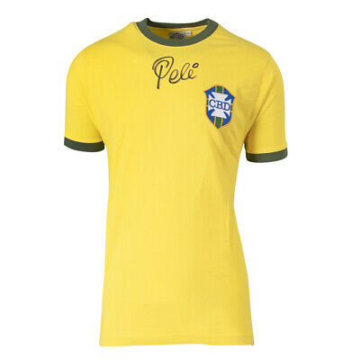 £455.99 • Buy Pele Front Signed Brazil Shirt - 1970 World Cup Autograph Jersey