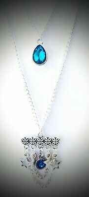 £5 • Buy Silver Multilayer Necklace With Aquamarine Swarovski Crystals And Star Charms