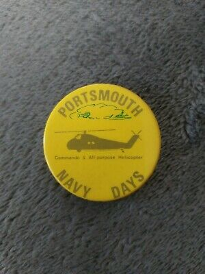 £1.99 • Buy Promotional Pin Badge Portsmouth Navy Days - Commando & All Purpose Helicopter