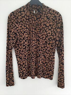 £3.50 • Buy Top Shop Long Sleeves High Neck Pleated Top Size 10