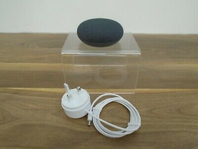 AU9.39 • Buy Google Home Mini 2nd Gen Smart Speaker Voice Assistant Charcoal Tested Working
