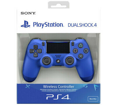£31.98 • Buy Sony PS4 Black Dualshock 4 V2 Controller WAVE BLUE Colour Brand New In Box