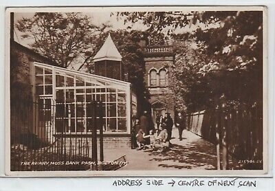 £3.20 • Buy The  New  Aviary In Moss Bank Park, Bolton In 1932. A Real Photo PPC, Used 1936.